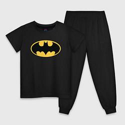 Пижама хлопковая детская Batman цвета черный — фото 1