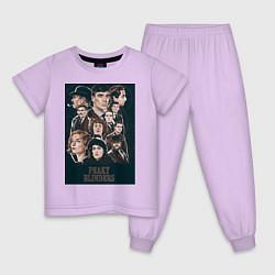 Пижама хлопковая детская Peaky blinders цвета лаванда — фото 1