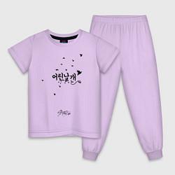 Пижама хлопковая детская Stray Kids цвета лаванда — фото 1