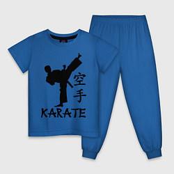 Пижама хлопковая детская Karate craftsmanship цвета синий — фото 1