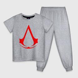 Пижама хлопковая детская Assassin's Creed цвета меланж — фото 1