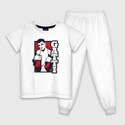 Пижама хлопковая детская Gatti цвета белый — фото 1