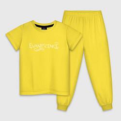 Пижама хлопковая детская Evanescence цвета желтый — фото 1