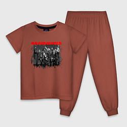 Пижама хлопковая детская RAMMSTEIN цвета кирпичный — фото 1