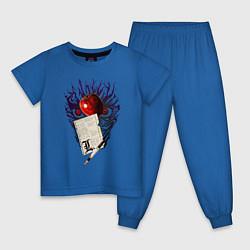 Пижама хлопковая детская Death Note цвета синий — фото 1