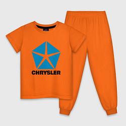 Пижама хлопковая детская Chrysler цвета оранжевый — фото 1