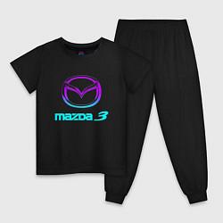 Пижама хлопковая детская MAZDA цвета черный — фото 1