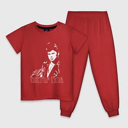 Пижама хлопковая детская Сектор газа цвета красный — фото 1