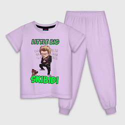 Пижама хлопковая детская Little Big цвета лаванда — фото 1