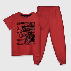 Пижама хлопковая детская Ева Евангелион цвета красный — фото 1
