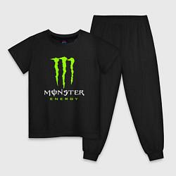 Пижама хлопковая детская MONSTER ENERGY цвета черный — фото 1