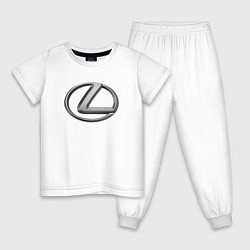 Пижама хлопковая детская LEXUS цвета белый — фото 1