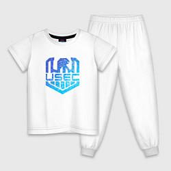 Пижама хлопковая детская Escape from Tarkov спина Z цвета белый — фото 1