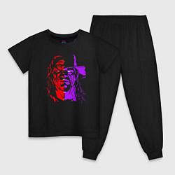 Пижама хлопковая детская Brothers of Destruction цвета черный — фото 1