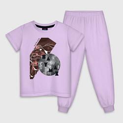 Пижама хлопковая детская Baymax Big Hero 6 цвета лаванда — фото 1