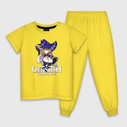 Пижама хлопковая детская Genshin impact Лиза цвета желтый — фото 1