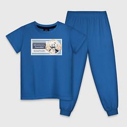 Пижама хлопковая детская Genshin Impact цвета синий — фото 1