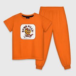 Пижама хлопковая детская Bomb Hills цвета оранжевый — фото 1