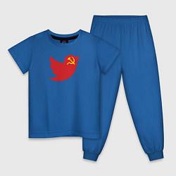 Пижама хлопковая детская Team Trump цвета синий — фото 1