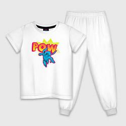 Пижама хлопковая детская POW цвета белый — фото 1