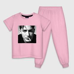 Пижама хлопковая детская ТОМ ХАРДИ цвета светло-розовый — фото 1