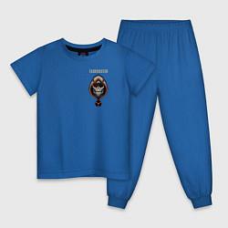 Пижама хлопковая детская Taskmaster цвета синий — фото 1