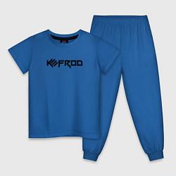 Пижама хлопковая детская Kefrod цвета синий — фото 1