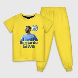 Пижама хлопковая детская Silva Bernardo Манчестер Сити цвета желтый — фото 1