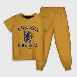 Пижама хлопковая детская Chelsea FC: Lion цвета горчичный — фото 1