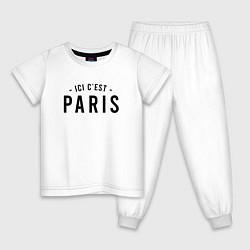 Пижама хлопковая детская ICI C EST PARIS цвета белый — фото 1