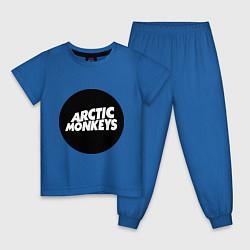 Пижама хлопковая детская Arctic Monkeys Round цвета синий — фото 1
