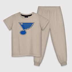 Пижама хлопковая детская St Louis Blues: Tarasenko 91 цвета миндальный — фото 1