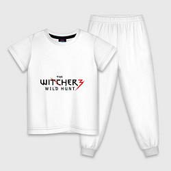 Пижама хлопковая детская The Witcher 3 цвета белый — фото 1