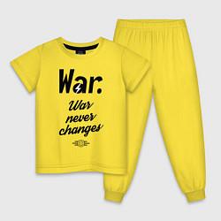 Пижама хлопковая детская War never changes цвета желтый — фото 1