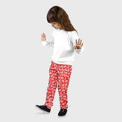 Брюки детские Supreme: Red Letters цвета 3D — фото 2
