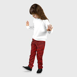 Брюки детские Off-White: Red Fashion цвета 3D-принт — фото 2