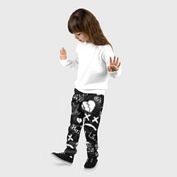 Брюки детские LIL PEEP цвета 3D-принт — фото 2