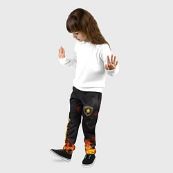 Брюки детские LAMBORGHINI цвета 3D-принт — фото 2