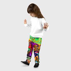 Брюки детские Неоновые разводы цвета 3D — фото 2