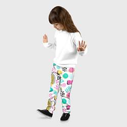 Брюки детские Поп-арт цвета 3D — фото 2