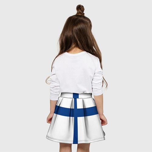 Детская юбка-солнце Флаг Финляндии / 3D-принт – фото 4
