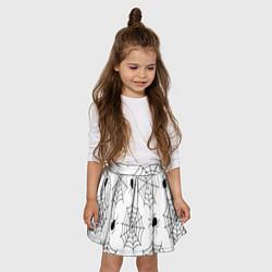 Юбка клеш для девочки с принтом Паутинка, цвет: 3D, артикул: 10135070505607 — фото 2
