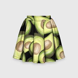 Юбка-солнце для девочки Avocado background цвета 3D — фото 1