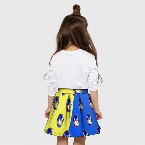 Детская юбка-солнце Sonic - Соник / 3D-принт – фото 4