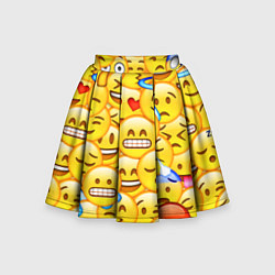 Юбка-солнце для девочки Emoji цвета 3D — фото 1