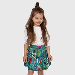 Юбка-солнце для девочки Стикербомбинг цвета 3D — фото 2