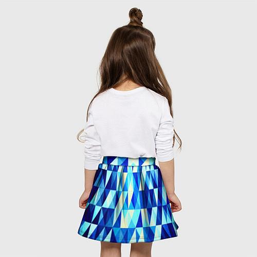 Детская юбка-солнце Синяя геометрия / 3D – фото 4