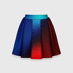 Детская юбка-солнце Синий и красный