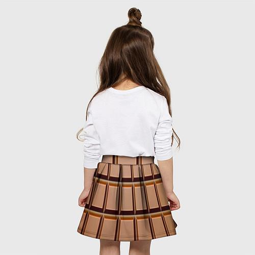 Детская юбка-солнце Шоколад / 3D – фото 4