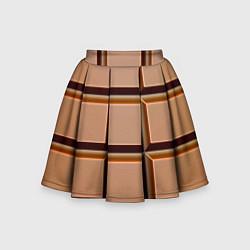 Детская юбка-солнце Шоколад